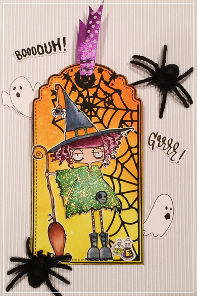 Carte Tag Halloween Orange