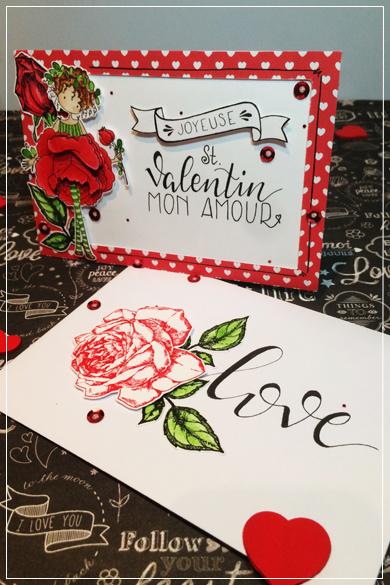 Carte réalisée pour la Saint Valentin